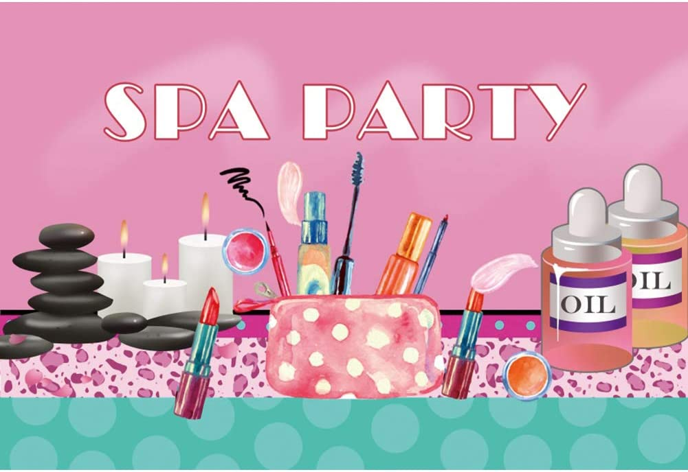 DORCEV 9x6ft Spa Party Backdrop Special Campaign Colorful Girls Max 88% OFF Up Pri Make Teens