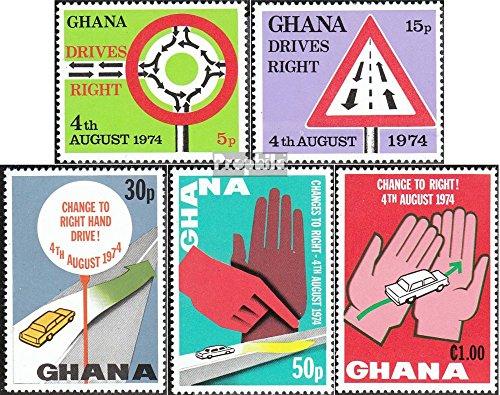 Ghana 572A-576A (complète.Edition.) 1974 Rechtsverkehr (Timbres pour Les collectionneurs) Circulation routière