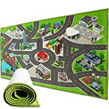 Playway City Life Kids Carpet Playmat Rug | 30 x 60 Inch Extra Large Toddler Activity Mat for Race Cars & Toys | Playroom Rug Makes a Fun Educational Gift Idea for Boys & Girls