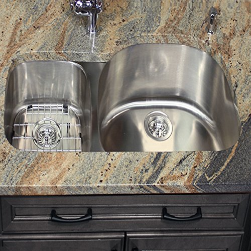 Check Price Nantucket Sinks Ns3121 R 16 31 Inch 70 30 Double
