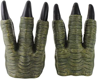 HOMYL Monster Dinosaur Dragon Zombie Costume Hands Claw Gloves Cosplay Trick Prop Toy