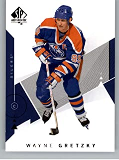 2018-19 SP Authentic Hockey #99 Wayne Gretzky Edmonton Oilers Official NHL Trading Card From Upper Deck (UD)
