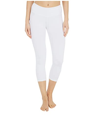 Hard Tail Organic Flat Waist Capris (White) Women