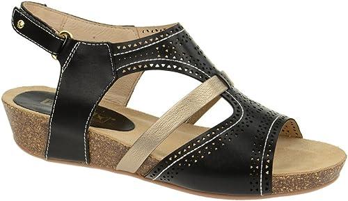 Pikolinos Rennes Keil Sandale in in noir - 931-7471A, Sandales pour Femme  autorisation de vente de la marque