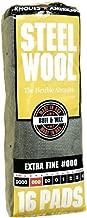 Homax 106601-06 Steel Wool Pads Poly Bag 16 Pads/Pkg