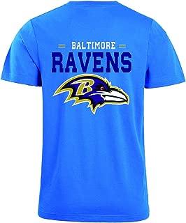 JJCat Men's O-Neck Short Sleeve Letters Print Baltimore Ravens Solid Color Summer T-Shirts