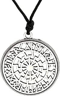 VS-Warenhandel Pendentif soleil noir grande roue argent sterling 925