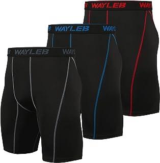 Wayleb Leggings Mallas Running Hombre Pantalones Cortos de Compresión Pantalon Corto Deportivo Hombre Verano Pantalón Cort...