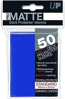 【ブルー】通常サイズ 非光沢プロマット・デッキプロテクターハードスリーブ 50枚入り [91×66mm]
