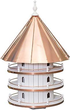 "Saving Shepherd 36"" Purple Martin Copper Top Birdhouse - Large 12 Room Swallow 3 Story Bird Condo House Amish Handcrafted in Lancaster Pennsylvania USA"