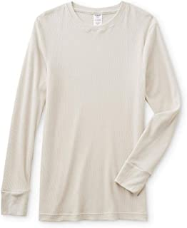 JOE BOXER Men's Big & Tall Crew Neck Thermal Shirt 4X Off White
