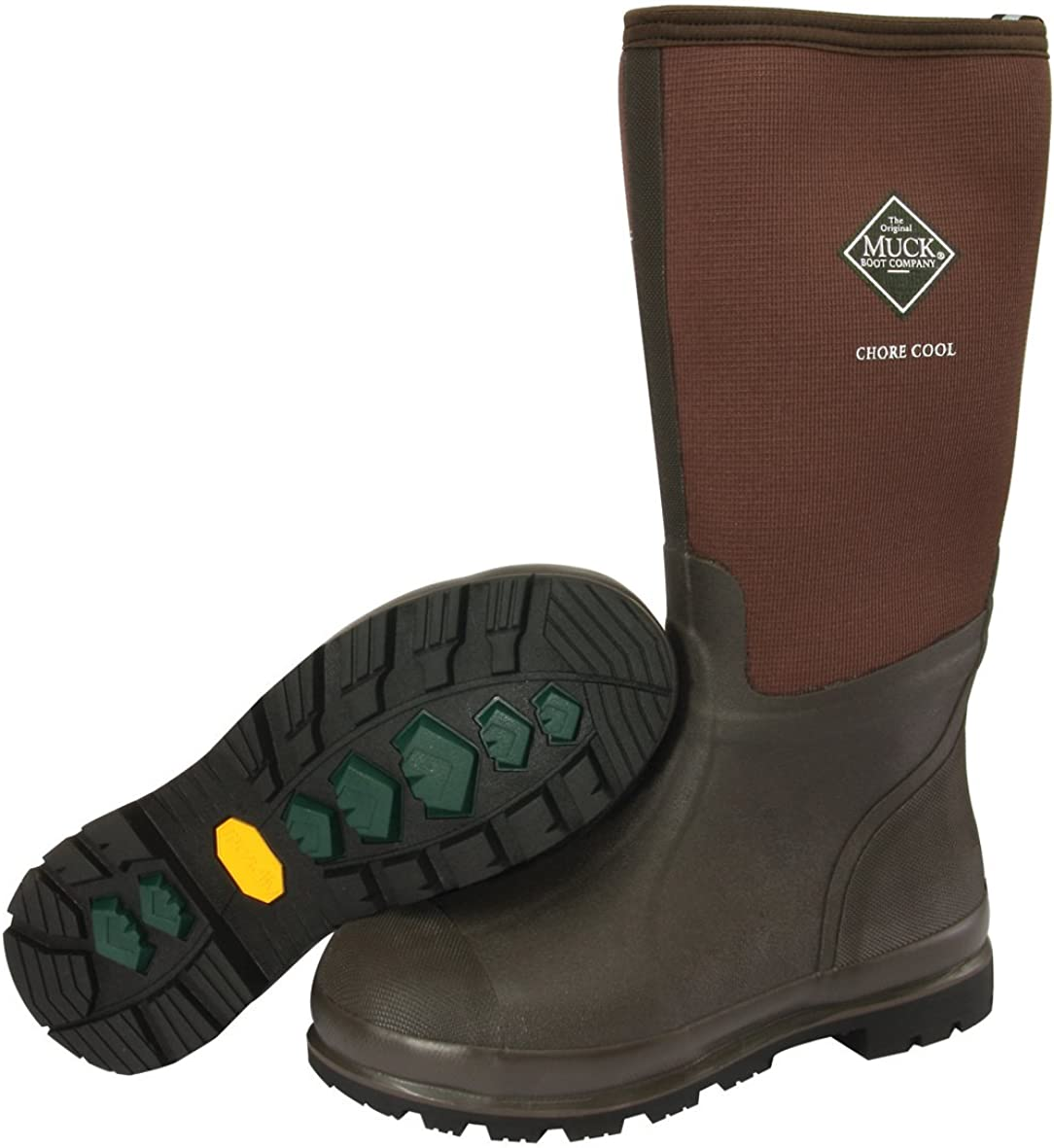 Muck Boots Chore Cool Soft Toe Warm Weather Mens Rubber Work Boot