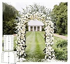 "Package of 1 or 3 White Metal Arches Great For Garden Climbing Plants, Events Such As Weddings, Quinceaneras, or Sweet 16 Birthday Parties (Approximately) 57"" inches wide X 94"" inches Tall. Lightweight and easy to assemble with removable sections for..."