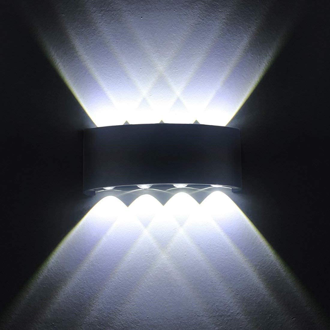 Smithink 100% quality warranty Modern Waterproof Wall Sconce Up Outdoor Exter 8W Down New item