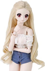 Wigs Only 8-9 inch 1/3 BJD Wig Doll Hair SD DZ DD DOD Wig (Blonde Wave)