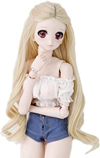 Wigs Only 8-9 inch 1/3 BJD Wig Doll Hair SD DZ DD DOD Wig (Blonde Wave)