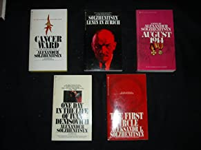 The Great Works of Alexander Solzhenitsyn (5 Book Box Set) (August 1914 / One Day in The Life Of Ivan Denisovich / Cancer Ward / The First Circle / Lenin In Zurich)