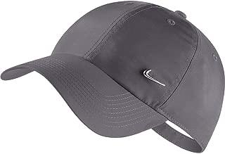 Nike Unisex U H86 Metal Swoosh Cap, Grey(Dark Grey/Metallic Silver 021), One Size
