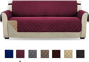 HONCENMAX Funda Cubre Sofá - Protector para Sofás Acolchado - Anti-Sucio para Mascotas Protector de Sofá Muebles - 3 Plazas (110''X 75'')