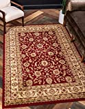 Unique Loom Voyage Traditional Oriental Classic Rug_AGR004, 4 x 6 Feet, Red/Gold