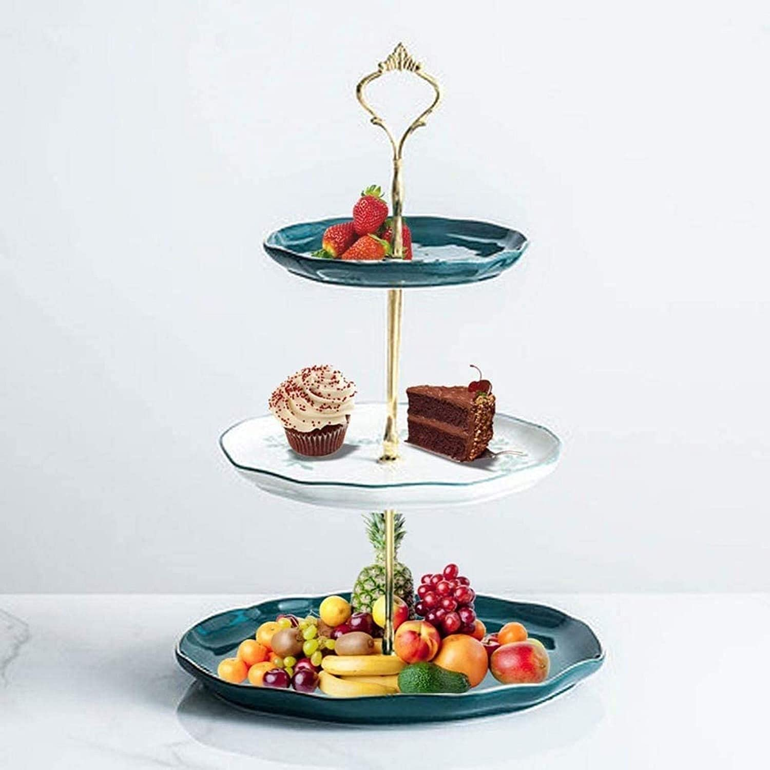 Ranking TOP1 Fruit Holder 2 SEAL limited product 3 Tier F Countertop Bowl Basket Metal