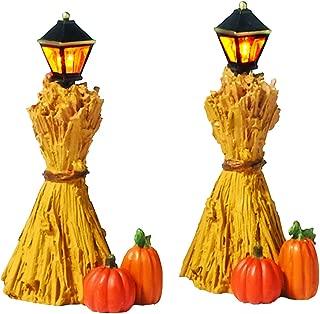 Department 56 Halloween Accessories for Village Collections Harvest Corn Stalk Lantern Lit Figurine Set, 2.25 Inch, Multicolor