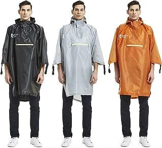 Rain Poncho, Waterproof Raincoat with Adjustable Hoods for Boys Men Women Adults
