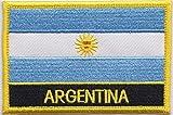 Argentinien Flagge Patch Aufnäher Bestickt, Rechteckig, Zum Aufnähen oder Aufbügeln, Exklusives Design von 1000 Flaggen