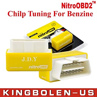 JDY Plug and Drive NitroOBD2 Performance Chip Tuning Box for Benzine Cars (Yellow)