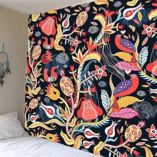 Tapiz de rayas con estampado de ondas para colgar en la pared, tela de tapiz azul grande, tapiz decorativo de fondo, tela decorativa A4, 100x150cm