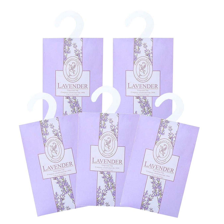 冷蔵するアルプス確かめるTINKSKY 香り袋 サシェ 5枚セット 花の香り ルームフレグランス 車内用 玄関用 部屋用 着物用 芳香剤(ラベンダー)