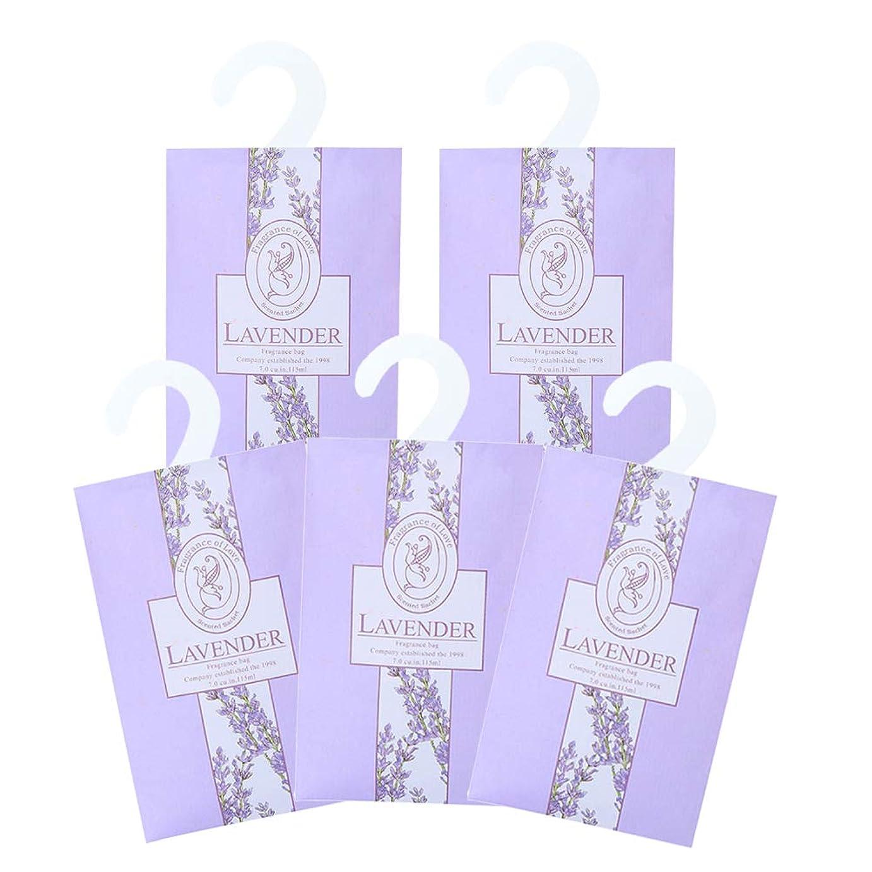 拮抗大混乱効果TINKSKY 香り袋 サシェ 5枚セット 花の香り ルームフレグランス 車内用 玄関用 部屋用 着物用 芳香剤(ラベンダー)