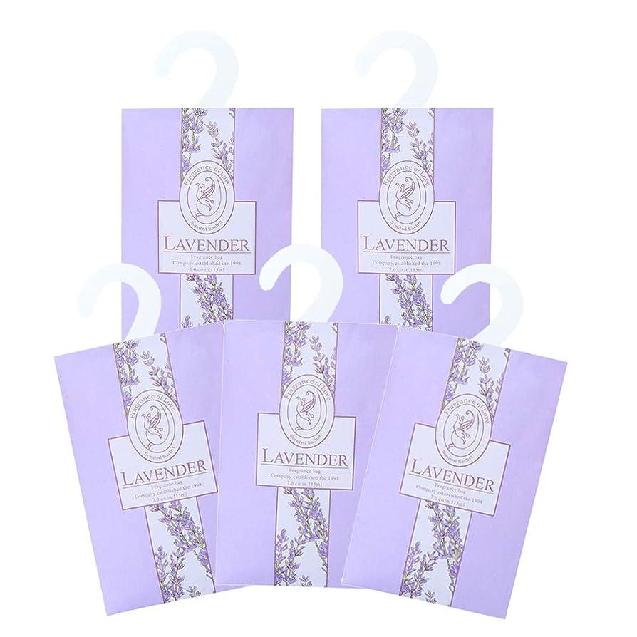 マット勝利グリースTINKSKY 香り袋 サシェ 5枚セット 花の香り ルームフレグランス 車内用 玄関用 部屋用 着物用 芳香剤(ラベンダー)