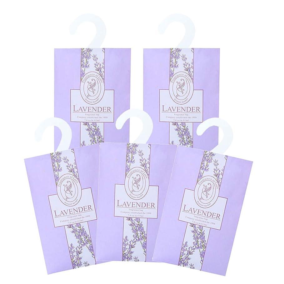 裕福なギター交換TINKSKY 香り袋 サシェ 5枚セット 花の香り ルームフレグランス 車内用 玄関用 部屋用 着物用 芳香剤(ラベンダー)