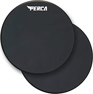PERCA Percussion - 12 Inch Practice Drum Pad - Premium Silicone Surface & Wood Core - Dual Sided Snare Drum Pad - Quiet Drum Set Practice Pad (Single Piece)