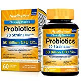 NewRhythm Probiotics 50 Billion CFU 20 Strains, 60 Veggie Capsules,...
