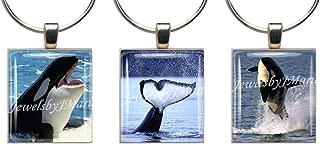 ORCA KILLER WHALE ~ Scrabble Tile Wine Glass Charms ~ Set of 3 ~ Stemware Charms/Markers/Pendants