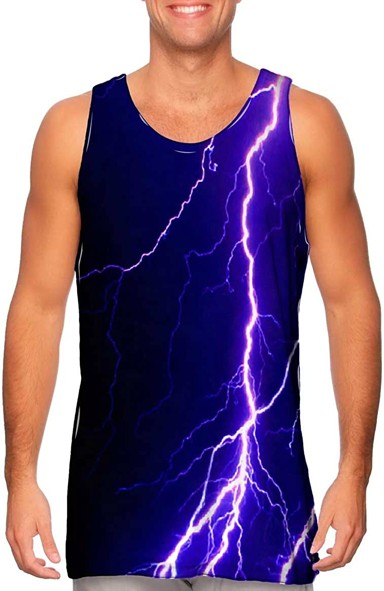 Dallas Mall Yizzam- Violet Lightning Storm Mens Los Angeles Mall Tank Top -Tshirt-