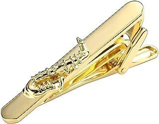 "Saxophone replica handmade collectible miniature tie tag Pin 2.5/"" w// black case"