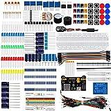 Super kit de componentes electrónicos con cables de puente de resistencia Transistor RGB condensador LED zumbador potenciómetro para Arduino