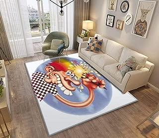 Grateful Dead Europe 72' Area Runner Rugs PopularCarpet Non-Slip Floor Mat Doormats Home Carpet Indoor Outdoor Kid Play Mat Throw Rug Yoga Mat