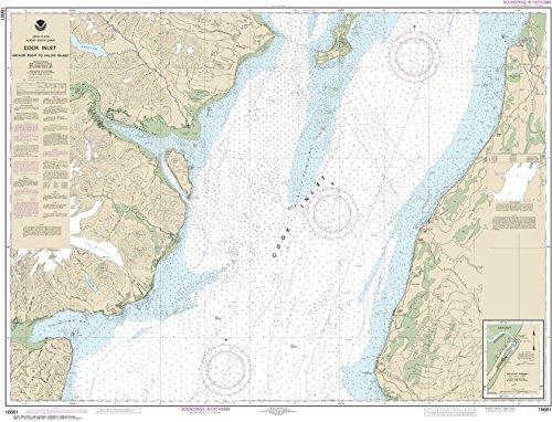 NOAA Chart 16661 Cook Inlet-Anchor Point to Kalgin Island;Ninilchik Harbor: 34.23' X 44.85' Matte Plastic Map