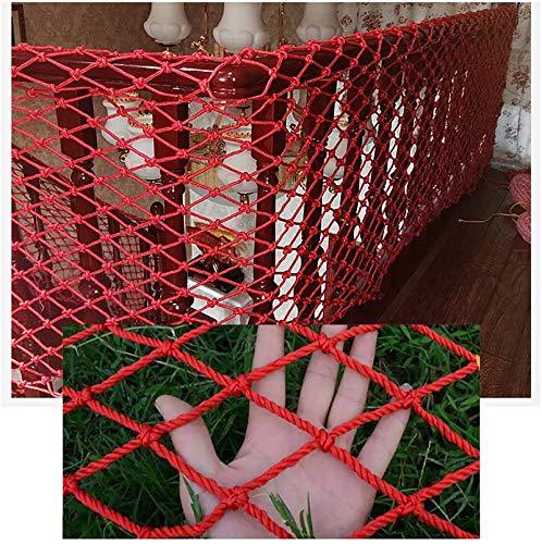 MJHETCY Red De Seguridad para Balcones, Red para Vallas De Construcción, Red para Decoración De Paredes, Red Resistente A Roturas para Escaleras, Red Protectora De Nailon(Size:1x9m)