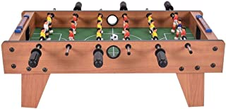 Football Game Table Wooden Tabletop Soccer Set Fun Sports Toys Compact Size with Leg for Game Room Arcades Bar Home Office...