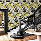 Papel pintado americano nostálgico retro estilo rural flor pájaro pájaro jaula fondo pared papel pintado europeo sala de estar dormitorio hotel-Costa Dorada