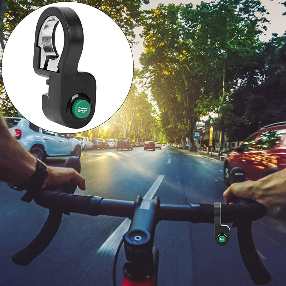 口実ベギンダウン直径22.5 mmのハンドルバー用、ポータブルスクーターホーンスイッチボタン、自転車ホーンスイッチボタンを簡単にインストールできる耐久性のある会社
