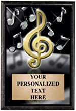 Crown Awards Music Plaques, 5 x 7 Show Stopper Music Note Trophy Plaque with Custom Engraving
