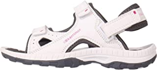 Official Brand Karrimor Antibes Sandals Childs Girls White/Pink Flip Flop Thongs Beach Shoes