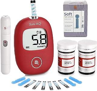 Sangre Azúcar Ensayador Sangre Glucosa Monitor Diabetes Pruebas Equipo con Codefree Prueba Tiras X 50 y Lancetas X 50, 1 Lanzamiento Dispositivo Inteligente Sangre Azúcar Glucosa Metro Fauay