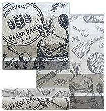 Lashuma Juego de 4 paños de cocina de 50 x 70 – 2 toallas de rizo de 50 x 50 cm, diseño: hornear